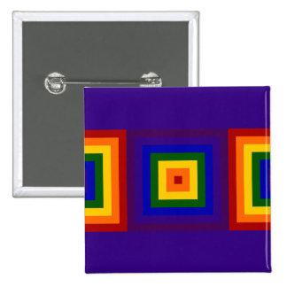 Cuadrados del arco iris pin cuadrada 5 cm