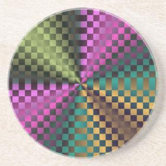Cuadrados del arco iris posavasos personalizados