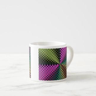 Cuadrados del arco iris taza espresso