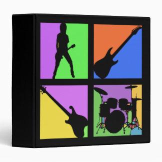 """Cuadrados del arte pop de la banda de rock carpeta 1 1/2"""""""