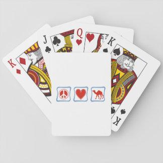 Cuadrados del camello del amor de la paz baraja de póquer