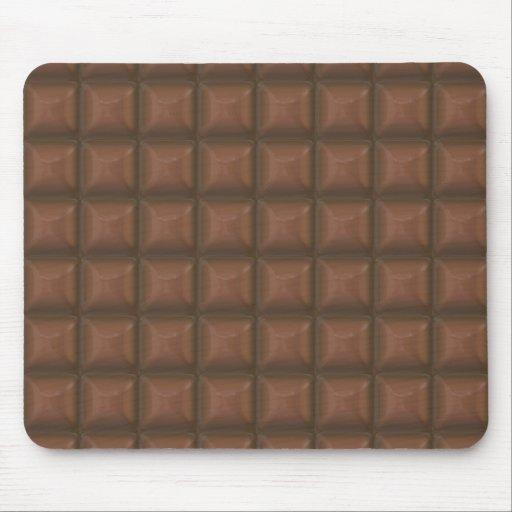 cuadrados del chocolate alfombrillas de raton