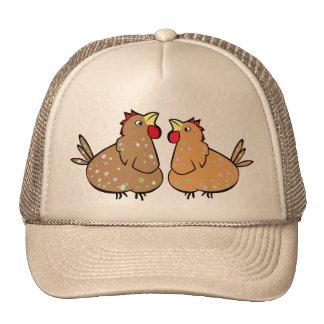 Cuadrados del color de los pollos del dibujo gorras