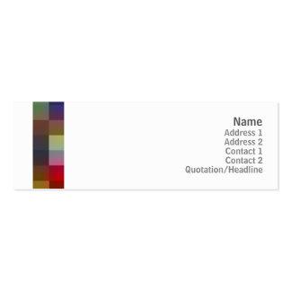 Cuadrados del color - flacos plantilla de tarjeta de negocio