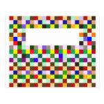 Cuadrados del color postales