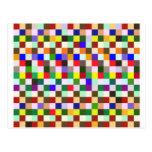 Cuadrados del color tarjeta postal