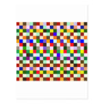 Cuadrados del color tarjetas postales