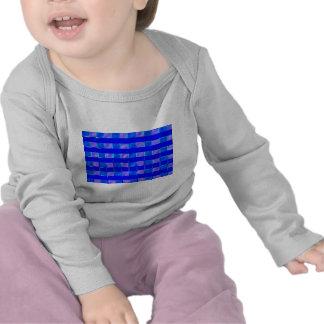 Cuadrados del control del azul real camisetas