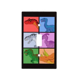 Cuadrados del dinosaurio tapa para interruptor