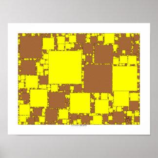 cuadrados del fractal posters