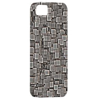 Cuadrados del metal iPhone 5 fundas