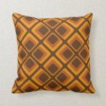 cuadrados del naranja de los años 60 almohadas
