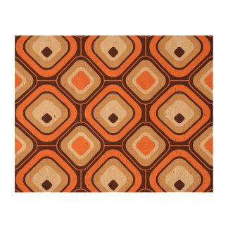 Cuadrados del naranja, marrones y beige impresiones en corcho