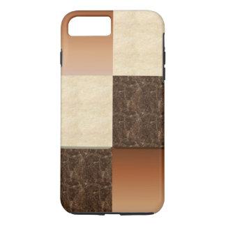 Cuadrados del tono de la tierra funda iPhone 7 plus