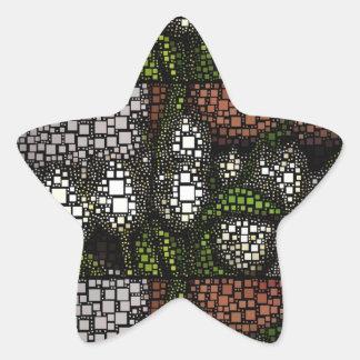 Cuadrados del tulipán pegatina en forma de estrella