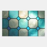 cuadrados del vitral rectangular pegatinas