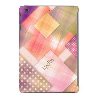 Cuadrados desiguales lindos y femeninos funda para iPad mini retina