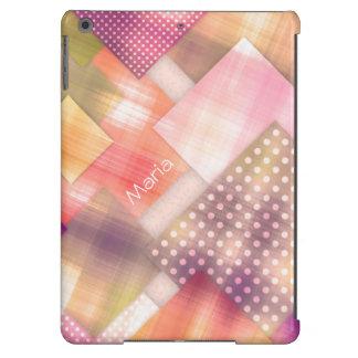 Cuadrados desiguales lindos y femeninos funda para iPad air