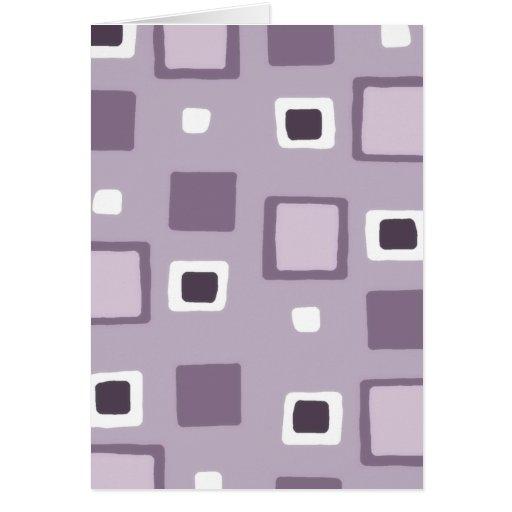 Cuadrados/diseño 1-Purple Felicitación
