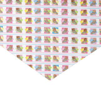 Cuadrados dulces de la niña papel de seda pequeño