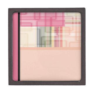 Cuadrados en colores pastel abstractos geométricos caja de recuerdo de calidad