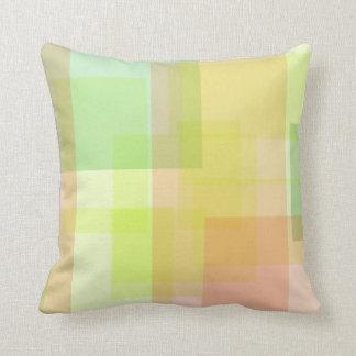 Cuadrados en colores pastel cojines