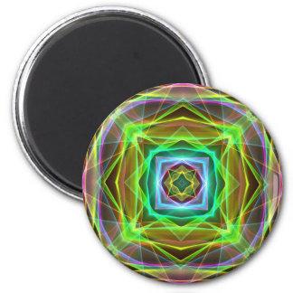 Cuadrados en colores pastel de electrificación imán redondo 5 cm
