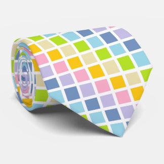 Cuadrados en colores pastel del arco iris corbatas
