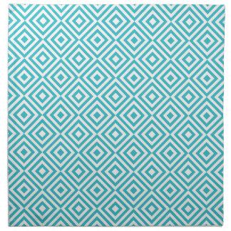 Cuadrados geométricos abstractos modelo, aguamarin servilletas imprimidas