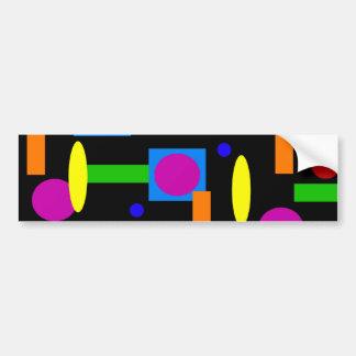 Cuadrados geométricos coloridos de los círculos de pegatina para auto