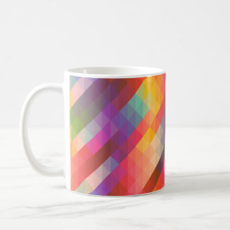 Cuadrados geométricos de Tetris del arco iris - Taza Clásica