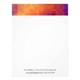 | cuadrados geométricos del naranja y de la membrete a diseño