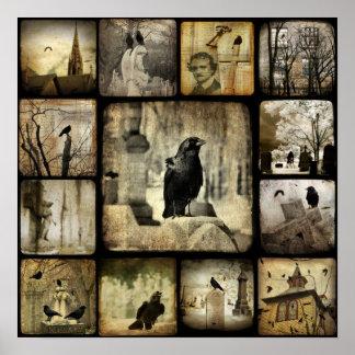 Cuadrados góticos póster