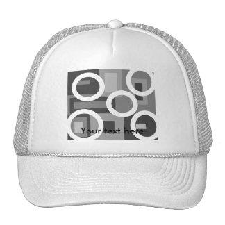 Cuadrados grises retros con los círculos blancos gorro de camionero