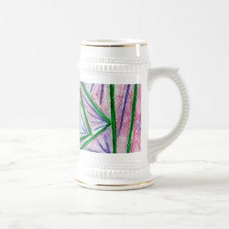 Cuadrados hipnóticos verdes jarra de cerveza