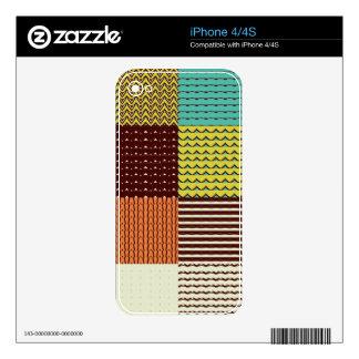 Cuadrados modelados skins para eliPhone 4