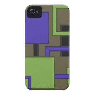 Cuadrados modernos Brown iPhone 4 Case-Mate Funda