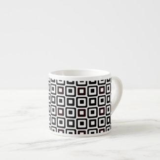 Cuadrados Negro-n-Blancos Taza Espresso