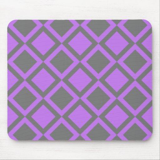 cuadrados o diamantes grises púrpuras tapetes de ratones