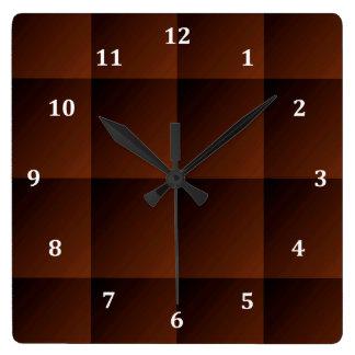 Cuadrados pelirrojos de la mirada del control de reloj cuadrado