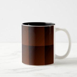 Cuadrados pelirrojos de la mirada del control de taza de café de dos colores