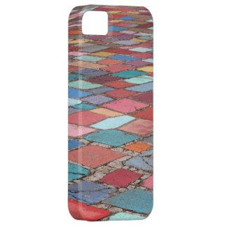 Cuadrados pintados diversión del cemento funda para iPhone SE/5/5s