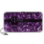 Cuadrados púrpuras notebook altavoces