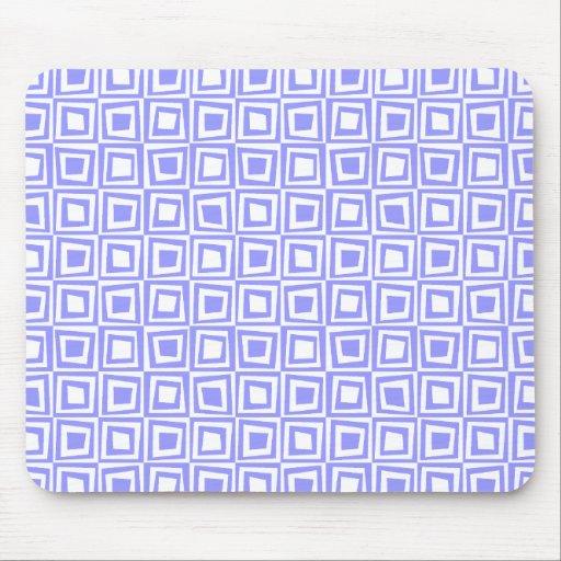 Cuadrados retros - azul en colores pastel en blanc tapete de ratones
