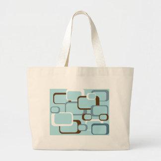 cuadrados retros azules claros bolsa