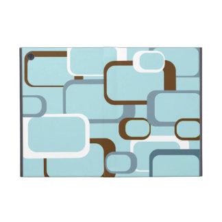 Cuadrados retros azules claros iPad mini coberturas