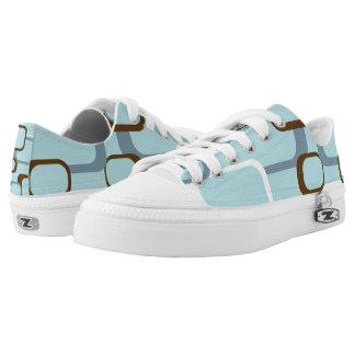 Cuadrados retros blancos azules de Brown Zapatillas
