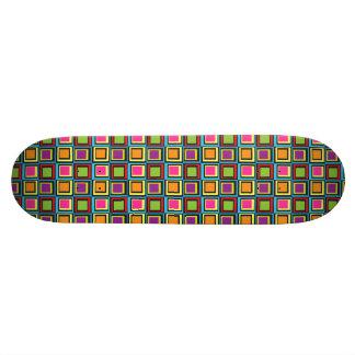 Cuadrados retros coloridos maravillosos skateboards