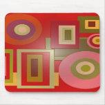 cuadrados rojos de los círculos alfombrilla de ratones