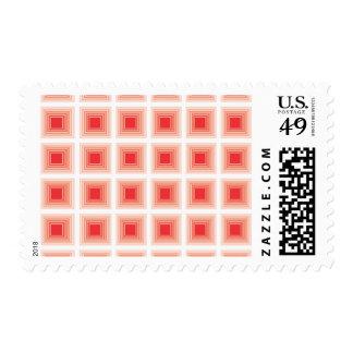 Cuadrados rojos del modelo geométrico de la sello